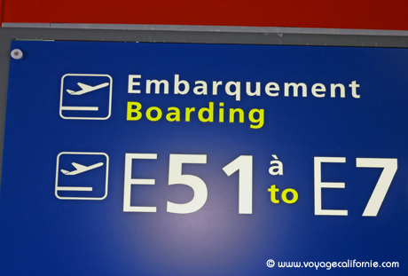 embarquement californie